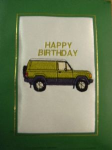 HAPPY BIRTHDAY - 4x4 Car